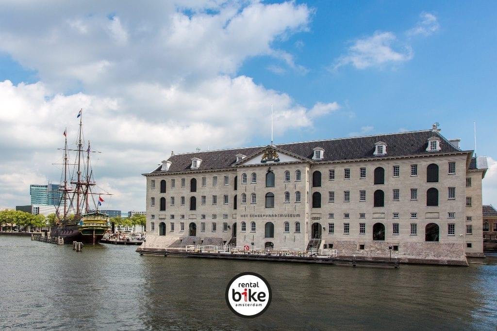 Een van de Hotspots. Het Scheepvaartmuseum in Amsterdam